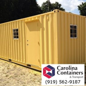 20 foot storage container office with door