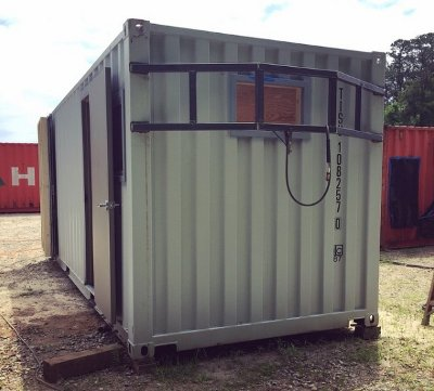 20 foot storage container refrigerated with walk in door
