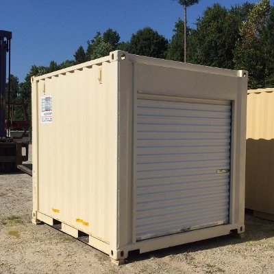 10 Foot Container with Roll Up Door Carolina Containers