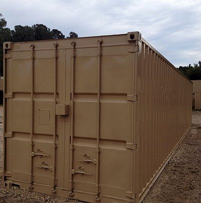 40 foot storage container with cargo doors – Carolina Containers