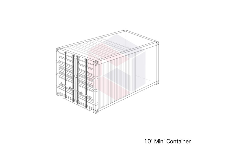 10 foot shipping containers - mini container