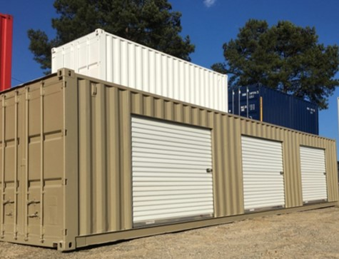 roll up door storage container - container modifications
