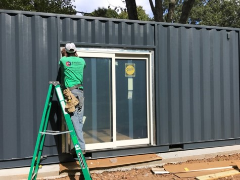 sliding glass door storage container raleigh nc