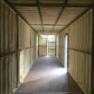 Spray Foam insulation storage container raleigh nc